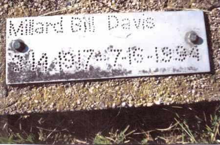 DAVIS, MILLARD BILL - Gallia County, Ohio | MILLARD BILL DAVIS - Ohio Gravestone Photos