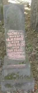 DAVIS, RACHEL - Gallia County, Ohio | RACHEL DAVIS - Ohio Gravestone Photos