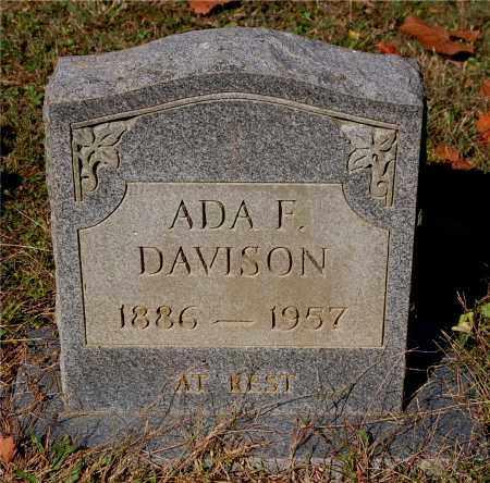 DAVISON, ADA F - Gallia County, Ohio | ADA F DAVISON - Ohio Gravestone Photos