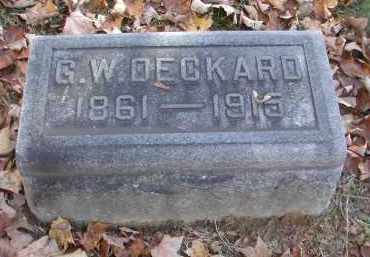 DECKARD, G. - Gallia County, Ohio | G. DECKARD - Ohio Gravestone Photos
