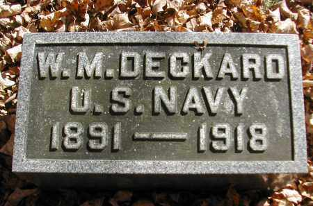 DECKARD, W. - Gallia County, Ohio   W. DECKARD - Ohio Gravestone Photos