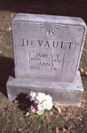 DEVAULT, JAMES T. - Gallia County, Ohio | JAMES T. DEVAULT - Ohio Gravestone Photos