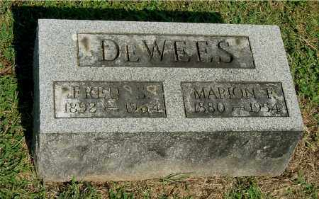 DEWEES, MARION F - Gallia County, Ohio | MARION F DEWEES - Ohio Gravestone Photos