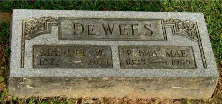DEWEES, MANUEL W - Gallia County, Ohio | MANUEL W DEWEES - Ohio Gravestone Photos