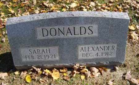 DONALDS, SARAH - Gallia County, Ohio | SARAH DONALDS - Ohio Gravestone Photos