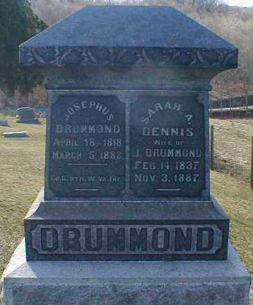 DENNIS DRUMMOND, SARAH - Gallia County, Ohio | SARAH DENNIS DRUMMOND - Ohio Gravestone Photos