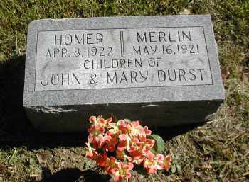 DURST, MERLIN - Gallia County, Ohio | MERLIN DURST - Ohio Gravestone Photos