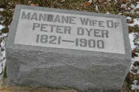 DYER, MANDANE - Gallia County, Ohio | MANDANE DYER - Ohio Gravestone Photos