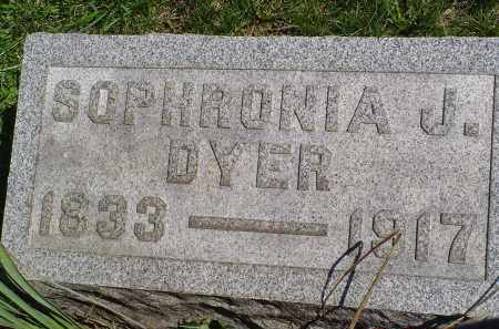 DYER, SOPHRONIA J. - Gallia County, Ohio | SOPHRONIA J. DYER - Ohio Gravestone Photos