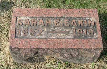 EAKIN, SARAH E - Gallia County, Ohio | SARAH E EAKIN - Ohio Gravestone Photos