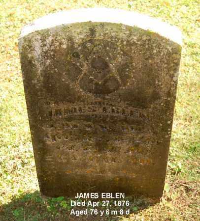 EBLEN, JAMES - Gallia County, Ohio | JAMES EBLEN - Ohio Gravestone Photos