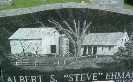 "EHMAN, ALBERT S. ""STEVE"" - Gallia County, Ohio | ALBERT S. ""STEVE"" EHMAN - Ohio Gravestone Photos"
