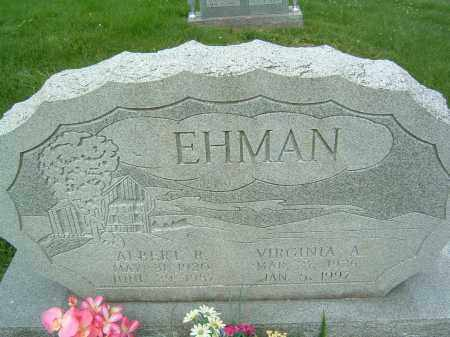 EHMAN, ALBERT R. - Gallia County, Ohio | ALBERT R. EHMAN - Ohio Gravestone Photos