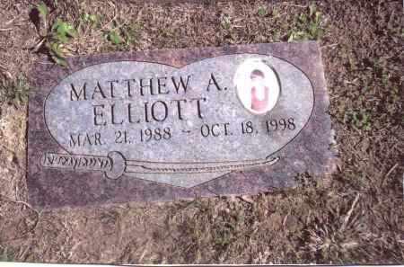 ELLIOTT, MATTHEW A. - Gallia County, Ohio | MATTHEW A. ELLIOTT - Ohio Gravestone Photos