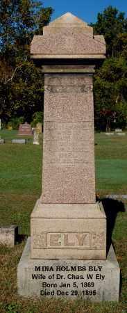 HOLMES ELY, MINA - Gallia County, Ohio | MINA HOLMES ELY - Ohio Gravestone Photos
