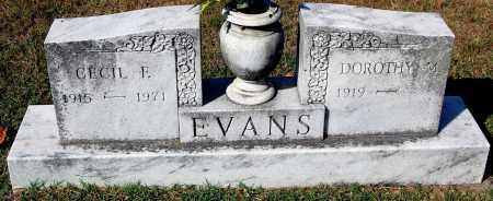 EVANS, CECIL F. - Gallia County, Ohio | CECIL F. EVANS - Ohio Gravestone Photos