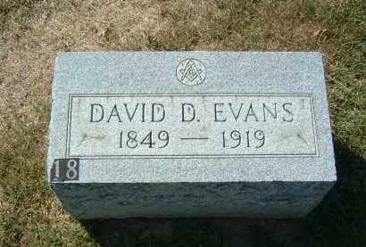 EVANS, DAVID D - Gallia County, Ohio | DAVID D EVANS - Ohio Gravestone Photos