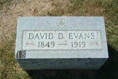 EVANS, DAVID D - Gallia County, Ohio | DAVID D EVANS - Ohio Gravestone Photos