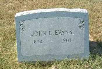 EVANS, JOHN L - Gallia County, Ohio | JOHN L EVANS - Ohio Gravestone Photos