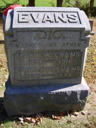 EVANS, MATHEW - Gallia County, Ohio | MATHEW EVANS - Ohio Gravestone Photos