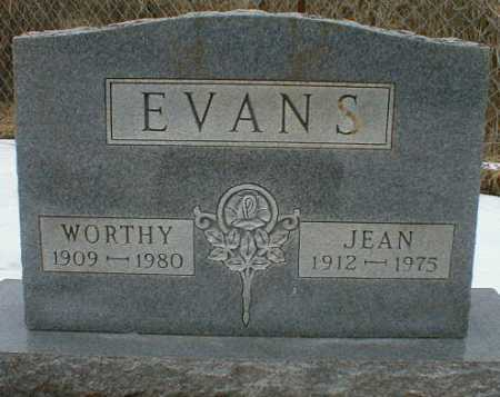 EVANS, JEAN - Gallia County, Ohio | JEAN EVANS - Ohio Gravestone Photos