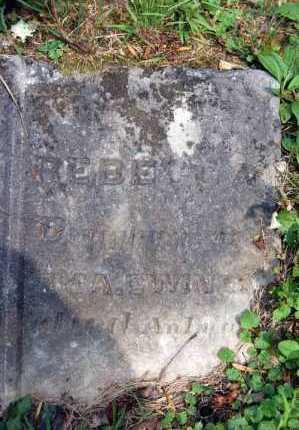 EWING, REBECCA - Gallia County, Ohio | REBECCA EWING - Ohio Gravestone Photos