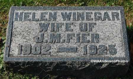 WINEGAR FIER, HELEN MARGARET - Gallia County, Ohio | HELEN MARGARET WINEGAR FIER - Ohio Gravestone Photos