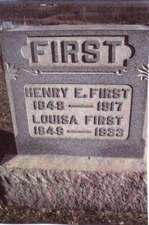 FIRST, HENRY E. - Gallia County, Ohio | HENRY E. FIRST - Ohio Gravestone Photos