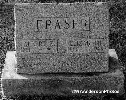 FRASER, ALBERT E - Gallia County, Ohio | ALBERT E FRASER - Ohio Gravestone Photos