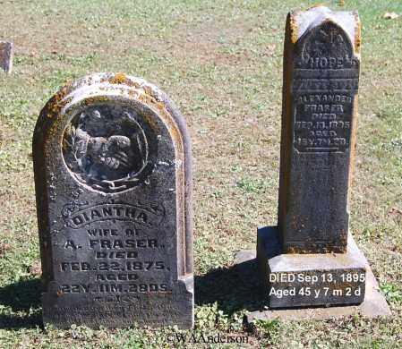 FRASER, ALEXANDER - Gallia County, Ohio | ALEXANDER FRASER - Ohio Gravestone Photos