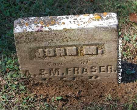 FRASER, JOHN M - Gallia County, Ohio | JOHN M FRASER - Ohio Gravestone Photos