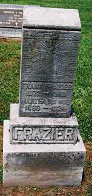 FRAZIER, MARTHA G. - Gallia County, Ohio | MARTHA G. FRAZIER - Ohio Gravestone Photos