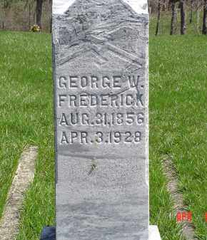 FREDERICK, GEORGE W. - Gallia County, Ohio | GEORGE W. FREDERICK - Ohio Gravestone Photos