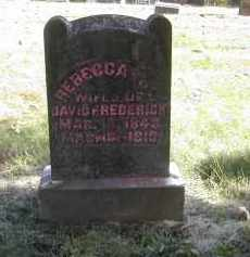 FREDERICK, REBECCA - Gallia County, Ohio | REBECCA FREDERICK - Ohio Gravestone Photos