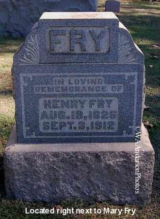 FRY, HENRY - Gallia County, Ohio | HENRY FRY - Ohio Gravestone Photos