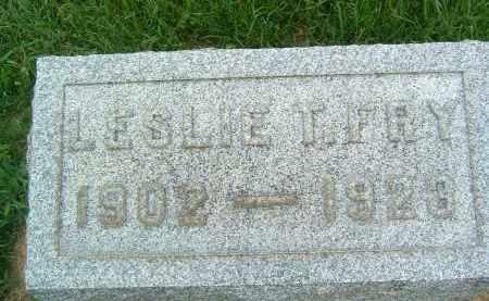 FRY, LESLIE T. - Gallia County, Ohio | LESLIE T. FRY - Ohio Gravestone Photos