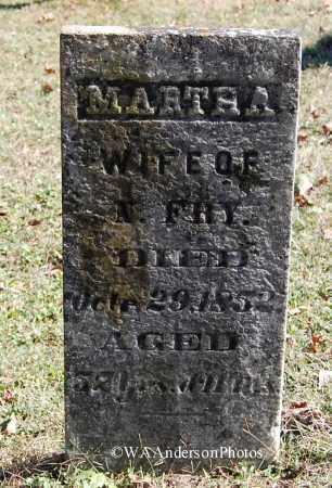 FRY, MARTHA - Gallia County, Ohio | MARTHA FRY - Ohio Gravestone Photos