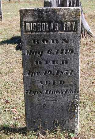 FRY, NICHOLAS - Gallia County, Ohio | NICHOLAS FRY - Ohio Gravestone Photos