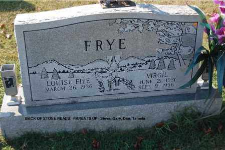 FRYE, VIRGIL - Gallia County, Ohio | VIRGIL FRYE - Ohio Gravestone Photos