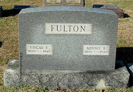 FULTON, EDGAR E - Gallia County, Ohio | EDGAR E FULTON - Ohio Gravestone Photos