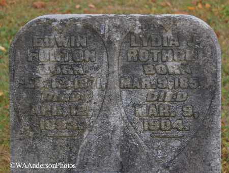 ROTHGEB FULTON, LYDIA J (CLOSE-UP) - Gallia County, Ohio | LYDIA J (CLOSE-UP) ROTHGEB FULTON - Ohio Gravestone Photos