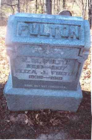 FULTON, ELIZA J. - Gallia County, Ohio | ELIZA J. FULTON - Ohio Gravestone Photos