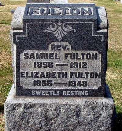 FULTON, SAMUEL (REV.) - Gallia County, Ohio | SAMUEL (REV.) FULTON - Ohio Gravestone Photos