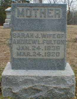 ERWIN FULTON, SARAH - Gallia County, Ohio | SARAH ERWIN FULTON - Ohio Gravestone Photos
