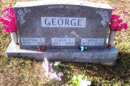 BOATMAN GEORGE, MINA - Gallia County, Ohio | MINA BOATMAN GEORGE - Ohio Gravestone Photos
