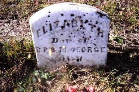 GEORGE, ELIZABETH - Gallia County, Ohio   ELIZABETH GEORGE - Ohio Gravestone Photos
