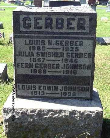 GERBER JOHNSON, LEAH FERN - Gallia County, Ohio | LEAH FERN GERBER JOHNSON - Ohio Gravestone Photos
