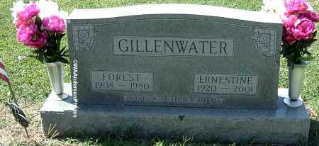 GILLENWATER, FOREST - Gallia County, Ohio | FOREST GILLENWATER - Ohio Gravestone Photos