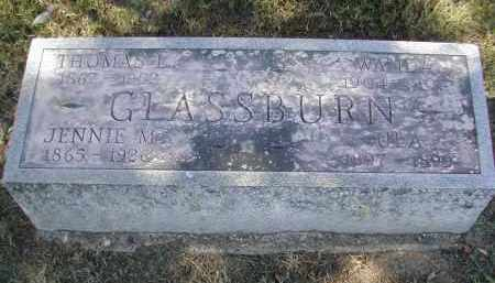 GLASSBURN, JENNIE - Gallia County, Ohio | JENNIE GLASSBURN - Ohio Gravestone Photos