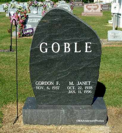 GOBLE, M. JANET - Gallia County, Ohio | M. JANET GOBLE - Ohio Gravestone Photos